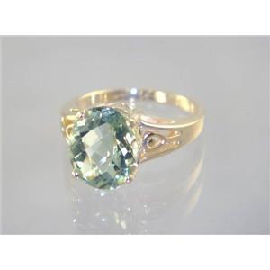 R139, Green Amethyst, Gold Ring
