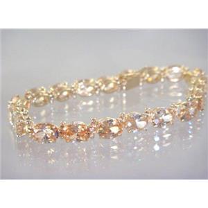 B002, Champagne CZ Gold Bracelet