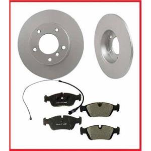 BMW 95-99 318Ti Frt Brake Disc Rotor Rotors & Pads and Brake Pad Sensor