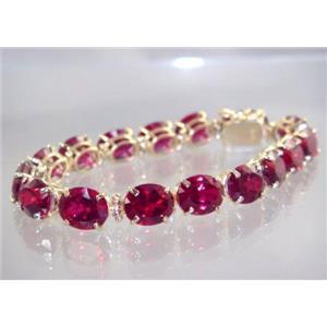 B003, Created Ruby Gold Bracelet
