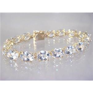 B003, Silver Topaz Gold Bracelet