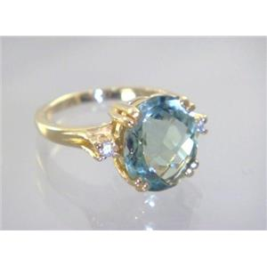 R150, Green Amethyst, Gold Ring