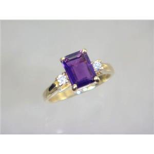 R171, Amethyst, Gold Ring