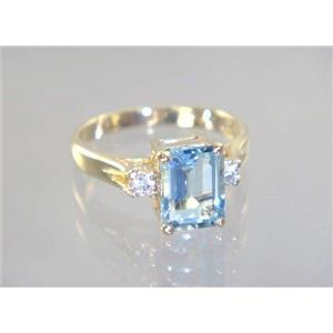 R171, Aquamarine, Gold Ring