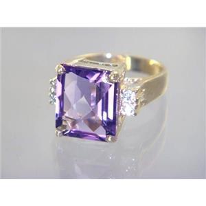 R183, Amethyst, Gold Ring