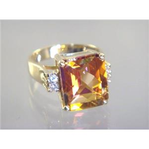 R183, Twilight Fire Topaz, Gold Ring