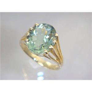 R280, Green Amethyst, Gold Ring