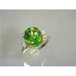 R150, Peridot, Gold Ring