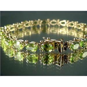 B001, Peridot Gold Bracelet