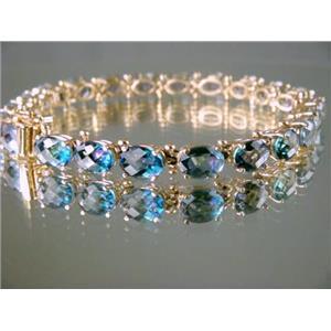B001, Neptune Garden Topaz Gold Bracelet