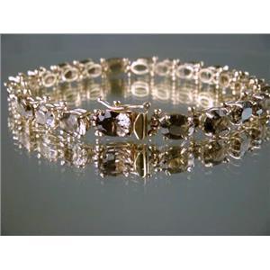 B001, Smoky Quartz Gold Bracelet