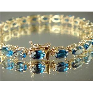 B001, London Blue Topaz Gold Bracelet