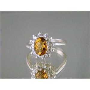 SR235, Citrine, 925 Sterling Silver Ring
