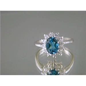 SR235, London Blue Topaz, 925 Sterling Silver Ring