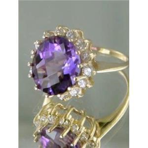 R283, Amethyst Gold Ring