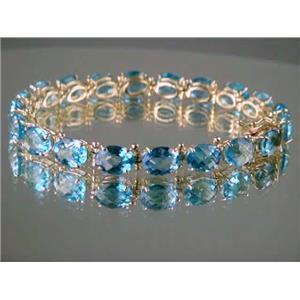 B003, Swiss Blue Topaz Gold Bracelet