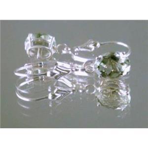 Green Amethyst, 925 Sterling Silver Earrings, SE007