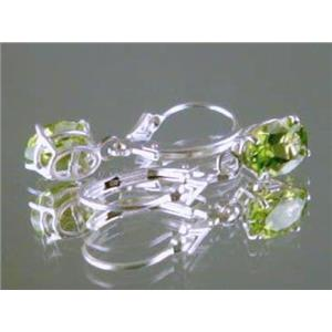 Peridot, 925 Sterling Silver Earrings, SE007
