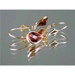 E021, Mozambique Garnet, 14k Gold Earringss