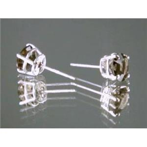 Smoky Quartz, 925 Sterling Silver Earrings, SE012