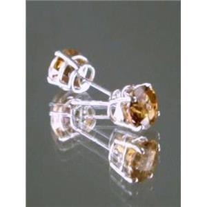 Twilight Fire Topaz 925 Sterling Silver Earrings, SE012