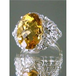 SR260, Citrine 925 Sterling Silver Ring
