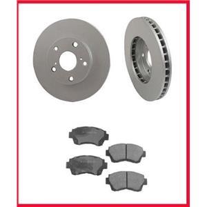 Fits 1998-2003 Toyota Sienna Front Brake Rotors Ceramic Pads