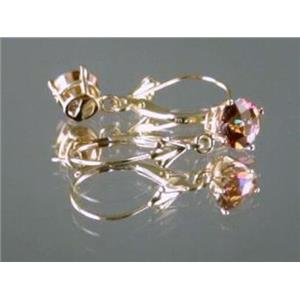 E017, Twilight Fire Topaz, 14k Gold Earrings