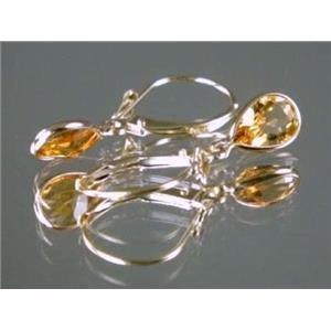 E021, Citrine Gold Earrings