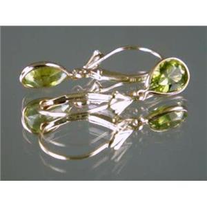 E021, Peridot 14k Gold Earrings