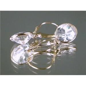E101, Cubic Zirconia 14k Gold Earrings