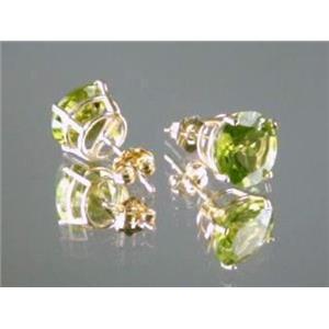 E112, Peridot, 14k Gold Earrings