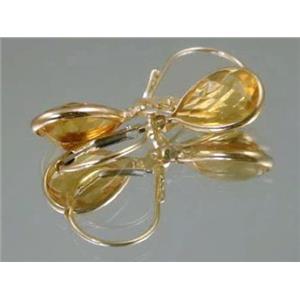 E121, Citrine 14k Gold Earrings