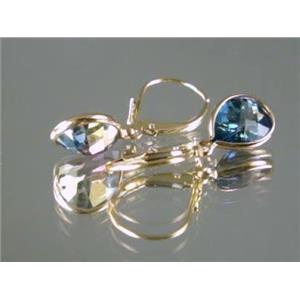 E121, Neptune Garden Topaz 14k Gold Earrings