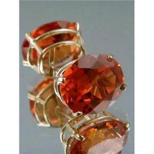 E202, Padparadsha Sapphire,14K Gold Earrings