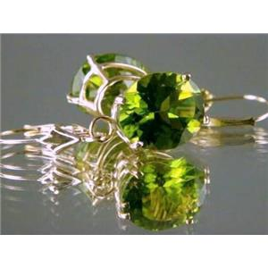E207, Peridot, 14k Gold Earrings