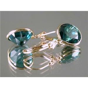 E211, Paraiba Topaz, 14k Gold Earrings