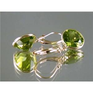 E211, Peridot 14k Gold Earrings