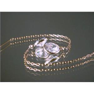 E005, Cubic Zirconia, 14k Gold Threaders
