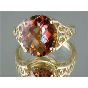 R057, Twilight Fire Topaz, Gold Ring