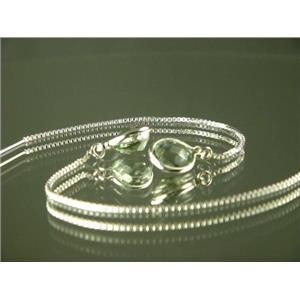 SE005, Green Amethyst Sterling Silver Earrings