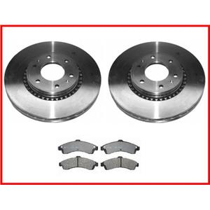 For 02-05 GM Trailblazer EXT 129 Inch Extended Wheel Base Front Rotors & Pads