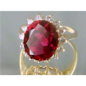 R283, Created Ruby Gold Ring