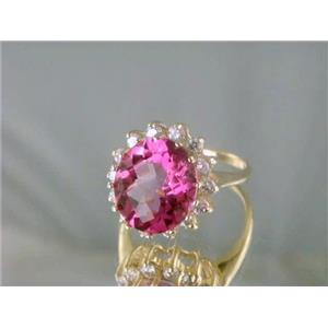 R283, Pure Pink Topaz Gold Ring