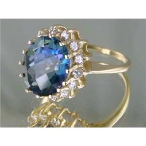 R283, Neptune Garden Topaz Gold Ring