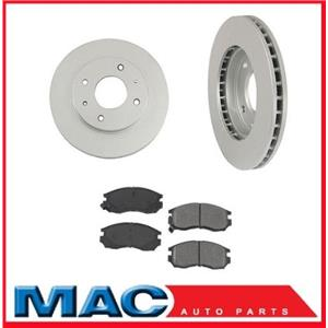 1999-2002 Mitsubishi Mirage (2) Front Brake Rotors 10 5/64 Inch & Ceramic Pads