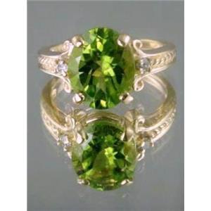 R136, Peridot Gold Ring