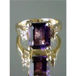 R221, Amethyst Gold Ring