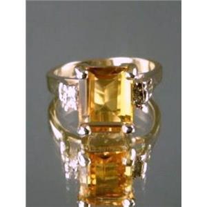 R221, Citrine Gold Ring