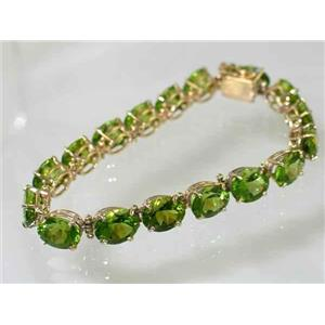 B003, Peridot, Gold Bracelet